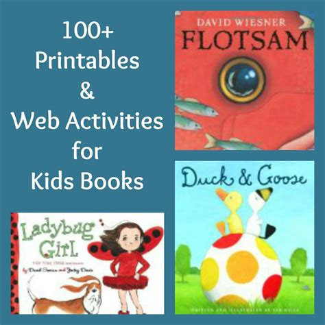 100 free printables activities for books free