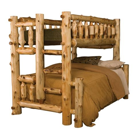 cedar beds cedar log bunk beds