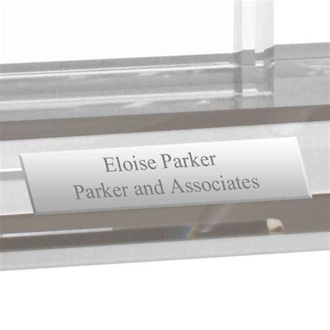personalized desktop business card holder