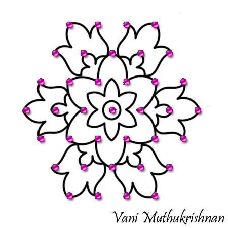 design flower kolam with dots dots search and google on pinterest