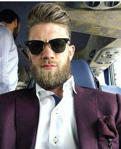 bryce harper ponytail tumblr mn2gqfw6dz1qzy3k0o1 540 hair and beards