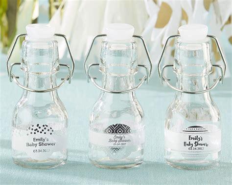 mini swing top bottles mini glass favor bottle with swing top silver foil set