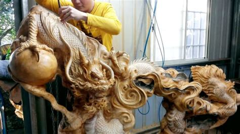 amazing wood products fastest skill wood dragon carving