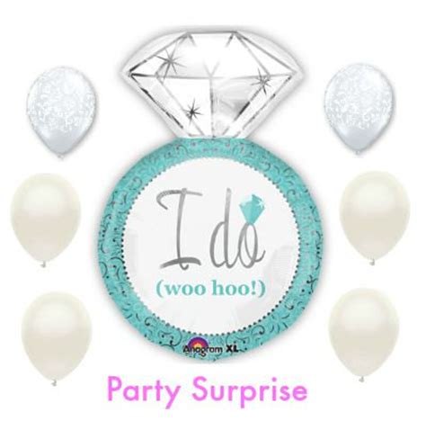 ring balloon package engagement ring balloons