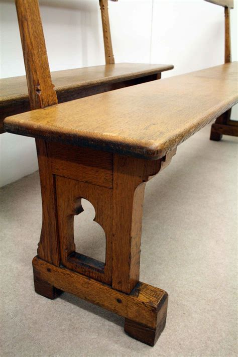 oak pew bench pair of oak benches pews antiques atlas