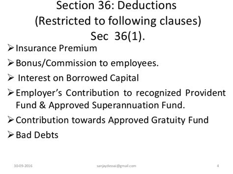 sec section 31 fee computation of profits gains of business or profession