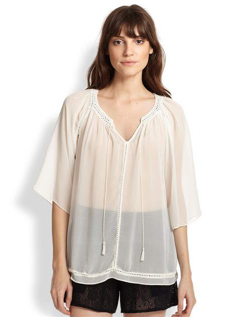 White Blouse topshop sheer white blouse blouse styles