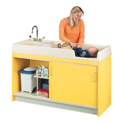 Changing Table With Sink Tot Mate 8539a Infant Changing Table W Sink