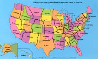 united states map showing state lines redrawing the united states of america per square mile