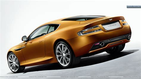golden cars 2011 aston martin virage golden car back pose wallpaper