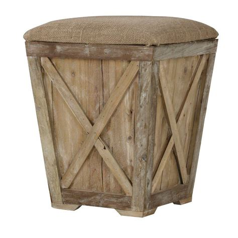 burlap bench cushion home decorators collection middleton 21 in accent stool