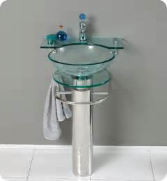 20 75 quot stainless steel pedestal with tempered glass sink