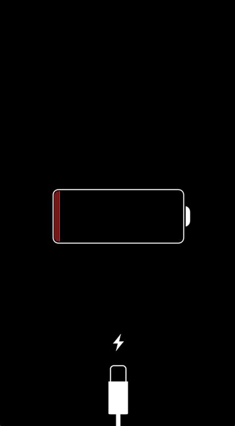 red iphone battery icon