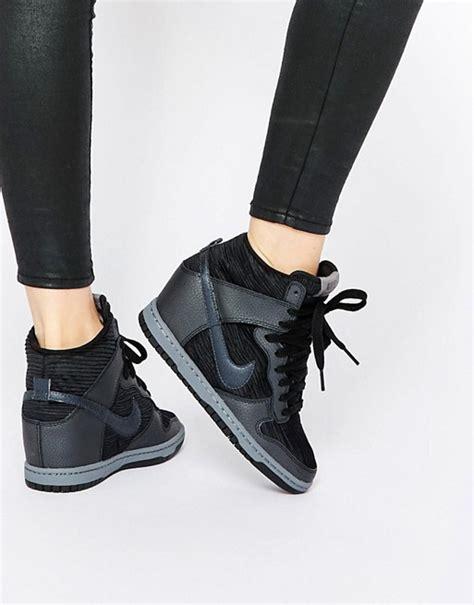 Nike Wedges Sky Dunk Colour Kode Ss6186 nike nike dunk sky hi black wedge trainers