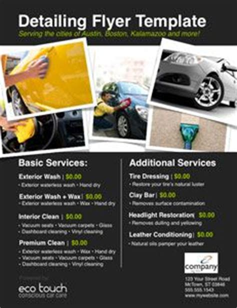 car detail flyer template free google search auto
