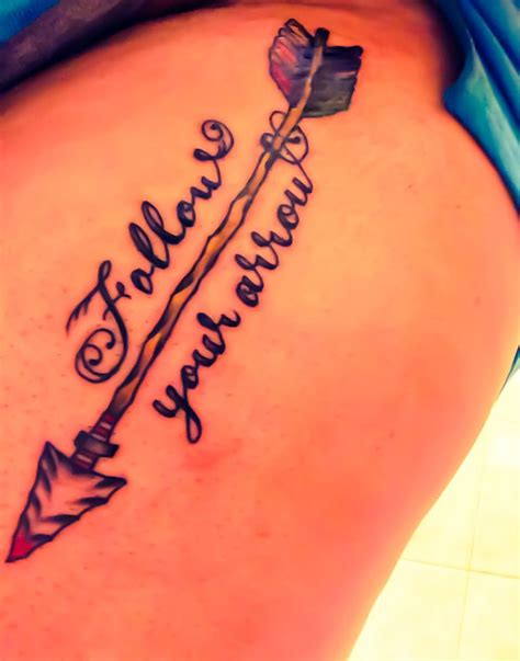 girly arrow tattoos follow your arrow on my thigh tattoos