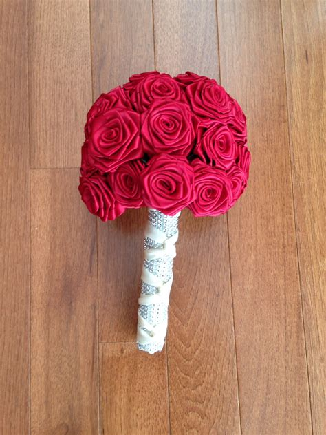 How To Make A Bouquet Of Roses With Paper - my diy ribbon bouquets weddingbee