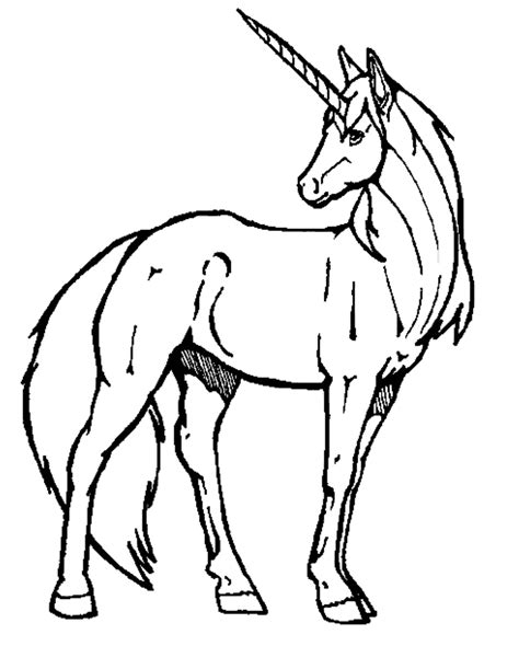unicorn coloring pages simple unicorn outline simple coloring pages