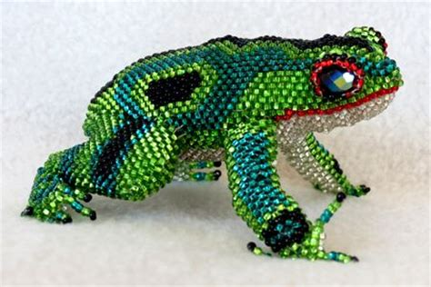 the beaded frog beaded frog from guatemala 4 inches b did critters