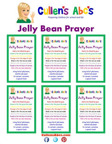 Jelly Bean Prayer Printable