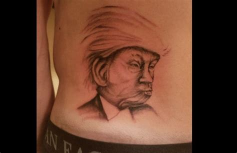 iowa tattoo bernie sanders supporter in iowa gets donald