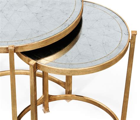 raz 25 quot gold circle nesting tables home decor home 201 glomis 233 gilded iron round nest of tables