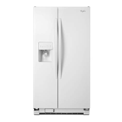 ge vs whirlpool refrigerator shop whirlpool 24 5 cu ft side by side refrigerator with