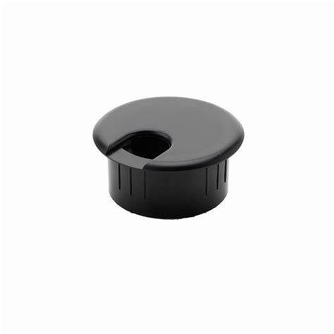 desk cord hole cover commercial electric 2 in furniture hole cover black 2