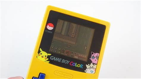 gameboy color pikachu edition gameboy color pikachu edition yellow and blue