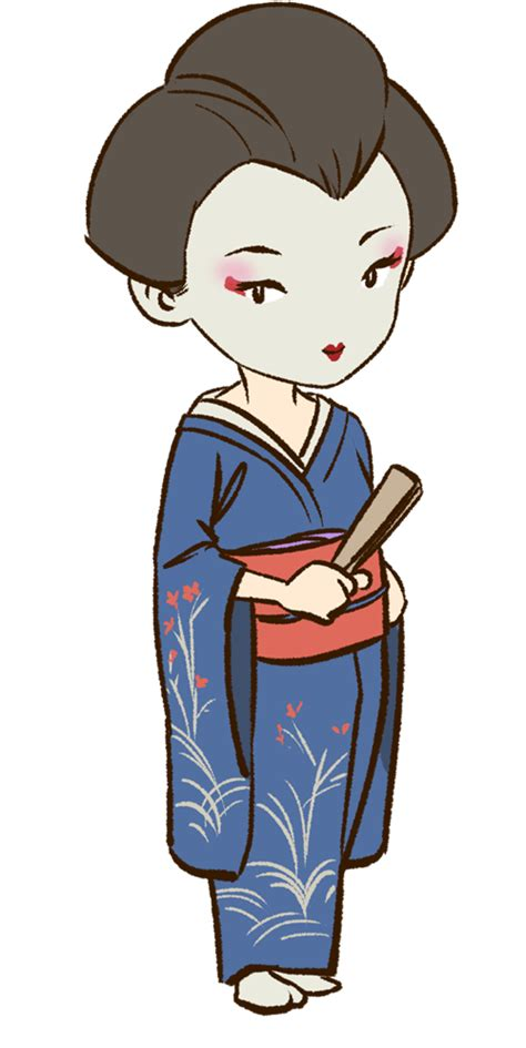 geisha clipart geisha clipart japanese person pencil and in color
