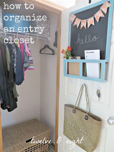 organized entryway closet