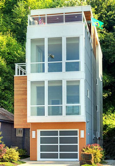 small three story house slim homes art and architecture