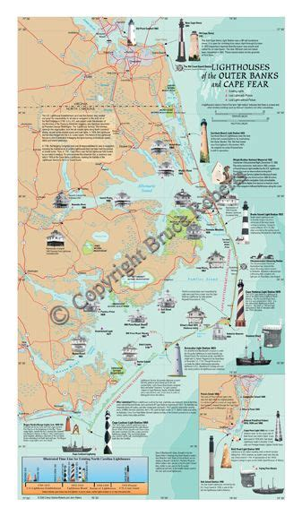 outer banks lighthouses map www pixshark com images galleries with a bite image from http brucerobertsphotography com images