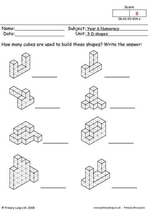 shapes worksheets year 8 3d shapes worksheet for year 2 geometry shape maths