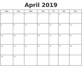 Printable Calendar July 2018 April 2019 Print A Calendar