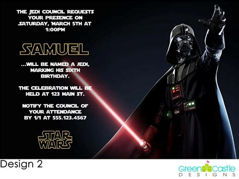 template wars wars birthday invitations theruntime