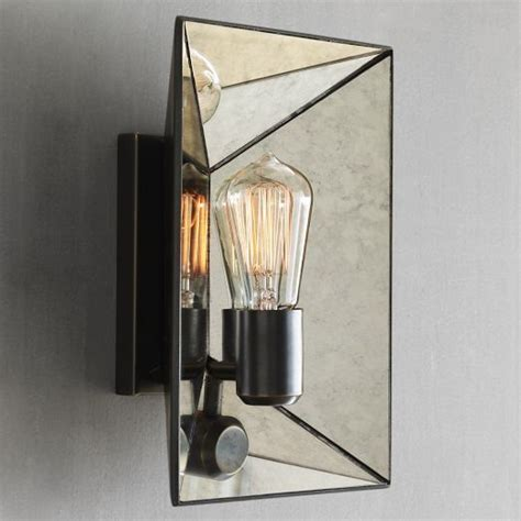 faceted mirror sconce west elm 129 lighting