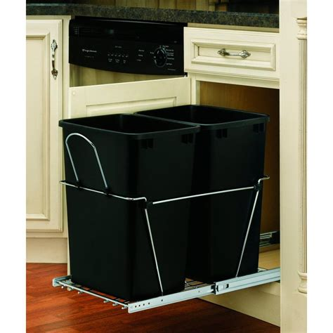 double garbage can cabinet upc 090713071251 rev a shelf trash receptacles double 35