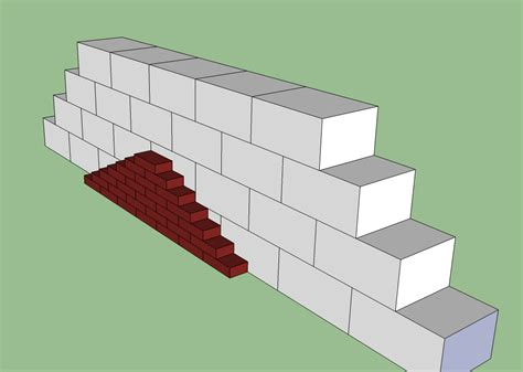 how to build a brick wall on the front of a cmu retaining