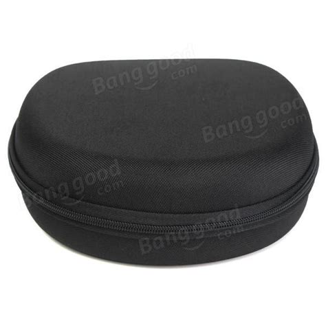 Promo Shape Storage Carrying Bag For Earphones Black black carrying bag holder headphone earphone