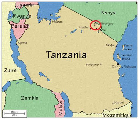 africa map mount kilimanjaro mount kilimanjaro tanzania geo 121 wiki fall 2011