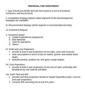 Business Investment Proposal Template Sample Investment Proposal 8 Documents In Pdf Word