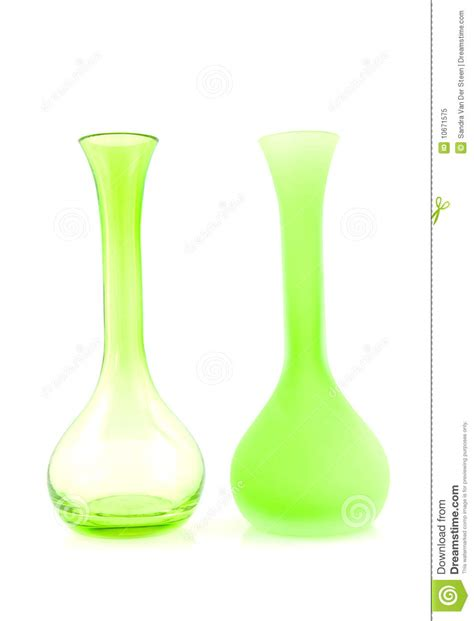 two green empty vases royalty free stock photo image
