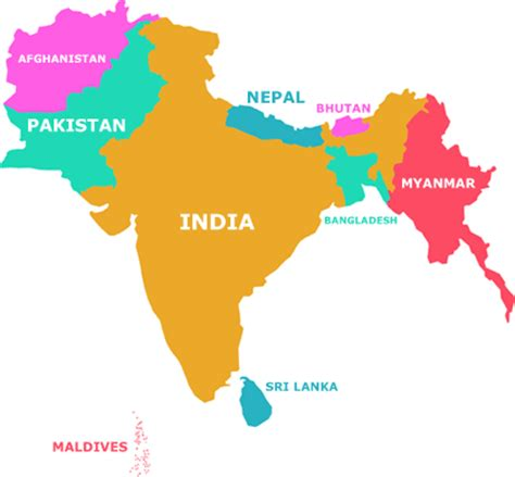 south asia countries map jackson heights indians the peopling of new york