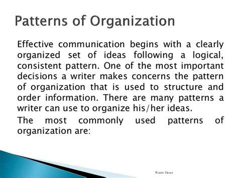 classification pattern of organization exle 4 patterns of organization