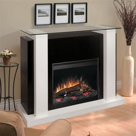 dimplex white black electric fireplace