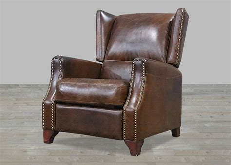 retro leather recliner brown vintage leather recliner with nail heads