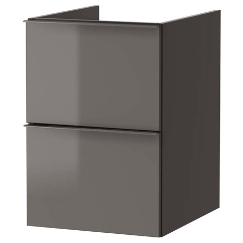 high gloss grey bathroom cabinets godmorgon wash stand with 2 drawers high gloss grey