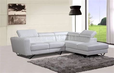 6201 sectional sofa in white leather by at home usa