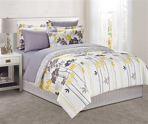 just home gray yellow dandelion comforter sets big lots